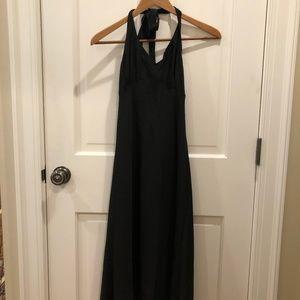 Black Silk J Crew Halter Dress
